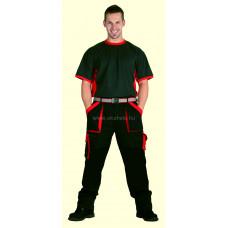 MAX derekas nadrág fekete/piros