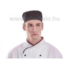Szakácssapka lapos fekete