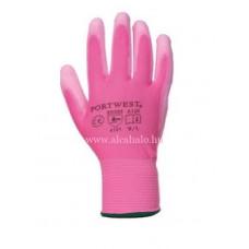 PU tenyérmártott kesztyű pink